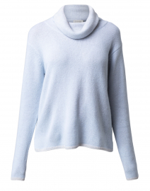 Blue and Grey Marled Cashmere Sweater