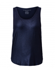 Navy Metallic Tank Top