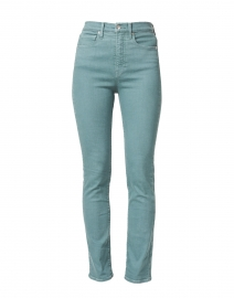 Ryleigh Teal High Rise Slim Straight Stretch Jean