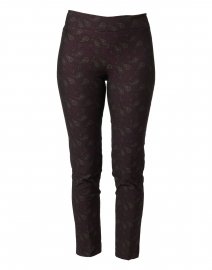 Pars Burgundy Paisley Stretch Pull-On Pant