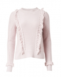 Lily Pink Cotton Fringe Sweater