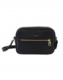 Manhattan Navy Pebbled Leather Cross-Body Bag