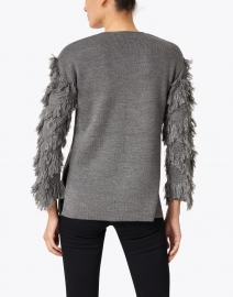 Kobi Halperin - Chace Grey Wool Fringed Cardigan