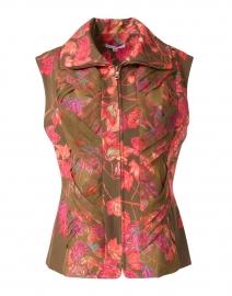 Lilla Autumn Leaves Print Stretch Knit Vest