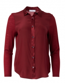 Red Stretch Wool and Silk Top