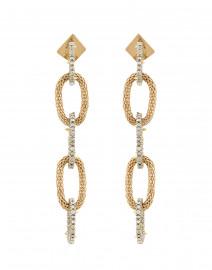 Crystal Encrusted Link Dangling Earrings