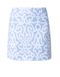 Periwinkle and White Printed Skort