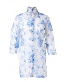 Rita Blue Cortez Embroidered Silk Organza Jacket