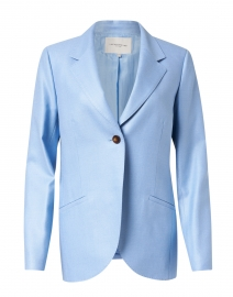 Fae Blue Silk and Wool Blazer