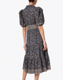 Veronica Beard - Eunice Blue Paisley Print Tiered Cotton Dress