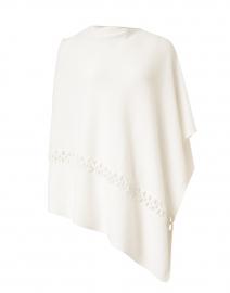 White Cashmere Twist Stitch Poncho