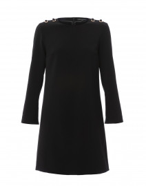Rosalie Black Dress with Rhinestone Eyelets