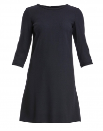 Lola Dark Navy Wool Crepe Dress