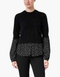 Brochu Walker - Ebbi Black Polka Dot Wool Cashmere Sweater