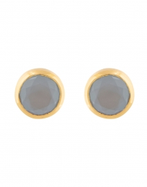 Blue Chalcedony Signature Knockout Stud Earrings