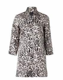 Rita White and Black Metallic Cheetah Silk Jacket