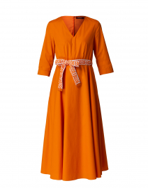 Agrume Orange Cotton Dress
