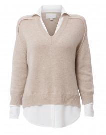 Brochu Walker - Beige Sweater with White Underlayer