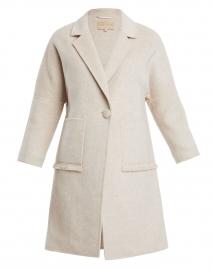 Beige Long Wool Coat