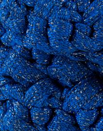 Lorenza Gandaglia - Nana Sapphire Blue Lurex Crossbody Bag