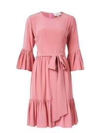 Pia Bubblegum Pink Silk Georgette Dress