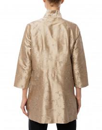 Connie Roberson - Rita Romance Taupe Embroidered Silk Top