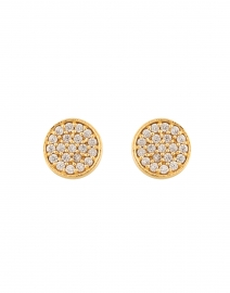 Gold Signature Pave Stud Earrings