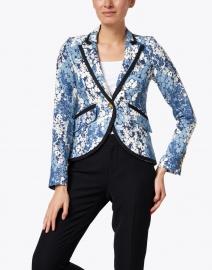 Smythe - Blue Floral Linen Blazer