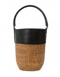Lucie Woven Natural Wicker Bucket Tote
