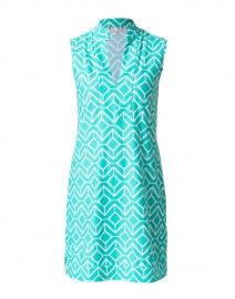 Kristen Seafoam Green Geometric Printed Dress