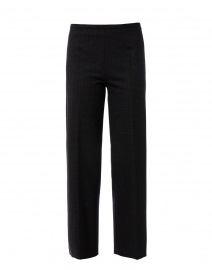 Amandine Grey Check Wool Wide Leg Pant