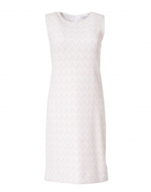 Elsi Pink and White Chevron Cotton Knit Dress