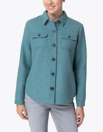 Blue - Spruce Green Wool Shirt Jacket