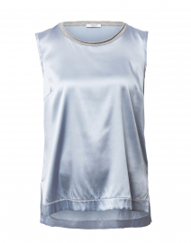 Light Blue Stretch Silk Blouse