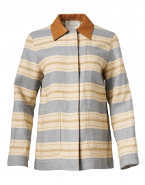 Amaris Multi Stripe Linen Jacket