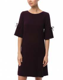 Goat - Irinna Plum Wool Crepe Tunic Dress
