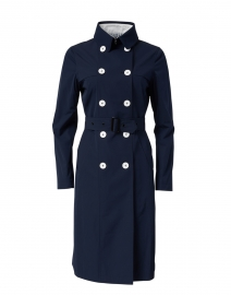 Navy Techno Water Repellent Trench Coat