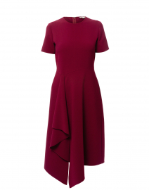 Gayle Maroon Red Stretch Crepe Dress
