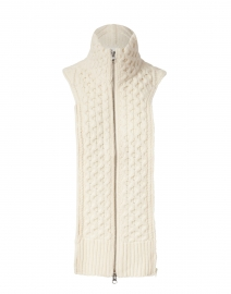 Upstate Essential Ivory Cable Knit Dickey