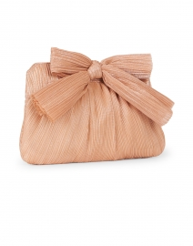 Loeffler Randall - Rayne Peach Pleated Lame Bow Clutch