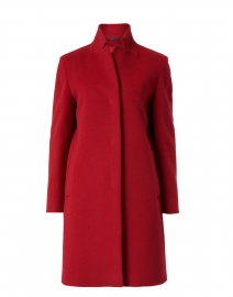Red Wool Cashmere Long Coat