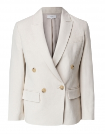 Ivory Cotton Linen Blazer