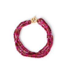 Magenta Agate Multistrand Necklace