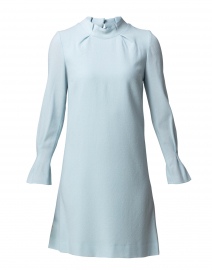 Elodie Frost Blue Crepe Wool Tunic Dress