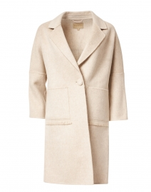 Beige Long Wool Coat