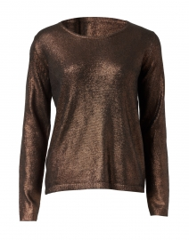Bronze Metallic Silk Wool Sweater