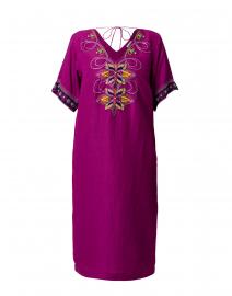 Rabari Magenta Linen Dress