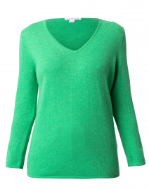 Kelly Green Button Cuff Cashmere Sweater