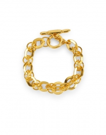 Gold Circular Rounded Chain Link Bracelet