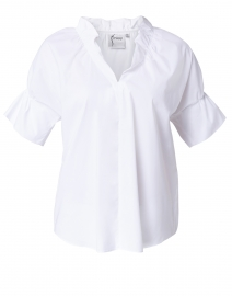 Crosby White Silky Poplin Top